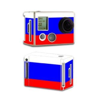 MightySkins Protective Vinyl Skin Decal Cover for GoPro HD Hero2 Camera Digital Camcorder Sticker Skins Russian Flag: Electronics