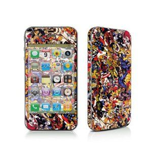 Marvel Comic Character Full Body Vinyl Skin Sticker Wrap Decal Protector for Iphone 4: Cell Phones & Accessories
