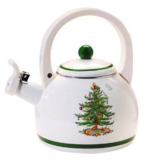Spode Christmas Tree Whistling Tea Kettle: Kitchen & Dining