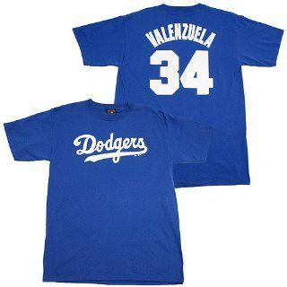 Fernando Valenzuela Dodgers MLB Prostyle Player T Shirt  Sports Related Merchandise  Sports & Outdoors