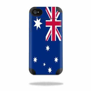 MightySkins Protective Vinyl Skin Decal Cover for Mophie Juice Pack Air Apple iPhone 4/4S Battery Case Sticker Skins Australian Flag: Cell Phones & Accessories
