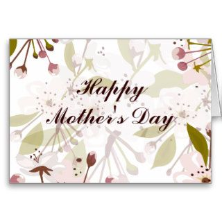 Spring Blossoms Mother's Day Greeting Card
