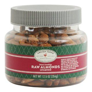 Archer Farms Heart Healthy Raw Almonds Unsalted 12.5oz  Grocery & Gourmet Food