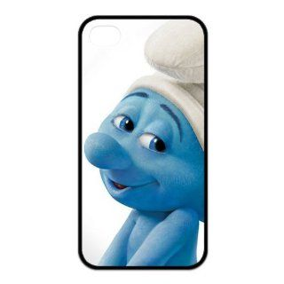Wonderful Cartoon Series Cases, 3D Family Comedy Film The Smurfs Funny Clumsy Smurf iPhone 4, 4S Case: Cell Phones & Accessories