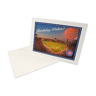 Chicago Cubs Wrigley Field at Dusk Birthday Card: Sports & Outdoors