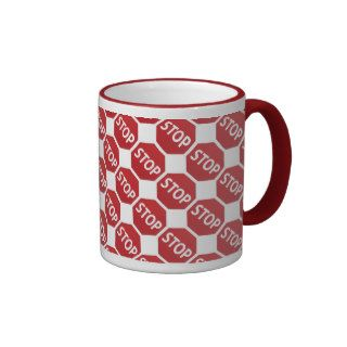 Stop Sign Design Coffee Mug