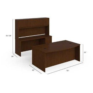 "basyx by HON BSXBLDCH7296A1 BL Laminate Series Desk & Credenza Stack On, 72"" x 96"" Footprint, Medium Cherry : Office Desks : Office Products"