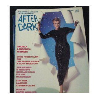 After Dark, The Magazine of Entertainment : JANUARY 1980, Volume 12, Number 9, With Angela Lansbury, Actress Singer in Black Sequin Gown Holding Red Rose on Cover, with Photo Spread Inside, (AFTER DARK MAGAZINE, 12): Jack Hyde, Stephen Schaefer, Michael Mu