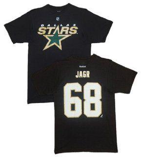 Dallas Stars Jaromir Jagr Black Name and Number T Shirt Size 2XL  Football Apparel  Sports & Outdoors