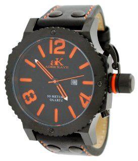Adee Kaye AK7211 MIPB Black Dial Orange Number Men's Ov at  Men's Watch store.