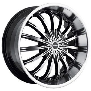 Dropstars 640 22x9.5 Machined Black Wheel / Rim 5x4.5 & 5x4.75 with a 18mm Offset and a 83.82 Hub Bore. Partnumber 640MB 2290418: Automotive
