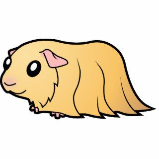 Cartoon Guinea Pig (cream) Photo Cut Out