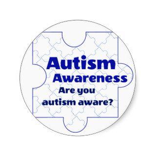 Autism Awareness Blue Puzzle Piece Stickers
