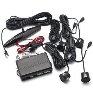 4 Parksensoren Auto LED Display Parkdistanzkontrolle Schwarz Elektronik