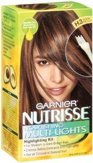 Garnier Nutrisse Multi Lights Hair Highlighting Kit #H3 Warm Bronze (Cookies N Cream) (Haarfarbe): Drogerie & Körperpflege