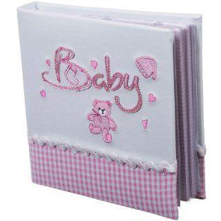 Bieco Fotoalbum Baby, in Rosa, f�r 50 Fotos, 17 x 17 cm: Baby