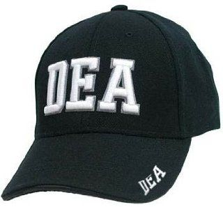 BLACK DEA DRUG LAW ENFORCEMENT BASEBALL CAP POLICE ADJ: Sports & Outdoors