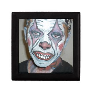 Sad Clowns Scary Clown Face Painting Trinket Boxes