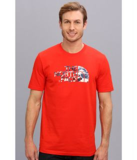 The North Face S/S Water Camo Logo Tee Fiery Red
