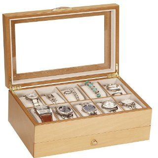 Lionite Mele 10 Watch Beech Wooden Display Box Case New: Home & Kitchen
