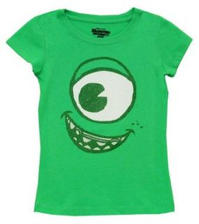 "Monsters Inc. ""Mike Wazowski"" Lime Kids T Shirt: Clothing"