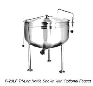 Market Forge F 30PEF6003 30 gal Kettle, w/ Pedestal Base & Full Steam Jacket Design, Stainless, 600/3 V, Each Electric Kettles Kitchen & Dining