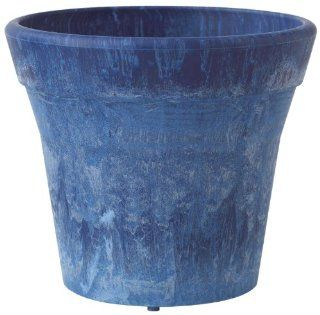 Novelty 07129 Round Mesa Planter, Denim, 12 Inch : Patio, Lawn & Garden