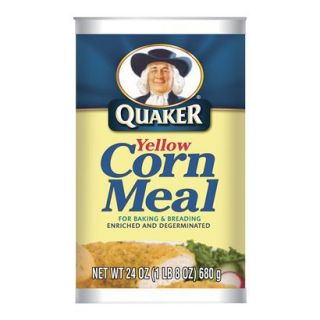 QUAKER       WHITE CORN MEAL 24OZ
