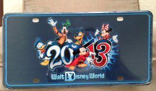 Walt Disney World Park Exclusive 2013 Metal Car License Plate Tag NEW