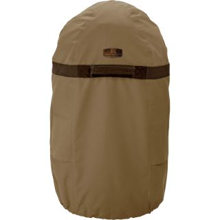 Classic Accessories Smoker Cover — Tan, Fits Medium Round Fryers and Smokers up to 18in. Diameter x 40in.H, Model# 55-037-032401-00  Smokers   Accessories