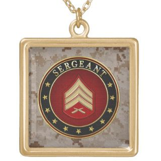 [200] Sergeant (Sgt) Rank Insignia Jewelry