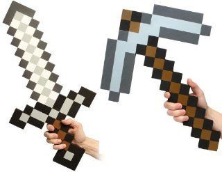 Minecraft Foam Sword & Pickaxe Combo Set Of 2: Everything Else