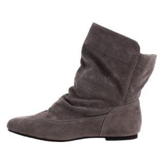 Damen Schuhe, STIEFELETTEN, STIEFEL BOOTS, 91 210, Synthetik in hochwertiger Wild Leder Optik, Grau, Gr 41 Schuhe & Handtaschen