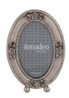 Bilderrahmen Antik  Silber oval Silberf��chen 10x15 cm: Küche & Haushalt