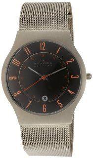 Skagen Herren Armbanduhr XL Analog Quarz Edelstahl beschichtet 233XLTTMO: SKAGEN Designs: Uhren