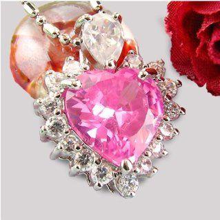 SWAROVSKI Elements Diamond Heart pink Herz Kette 18 Karat vergoldet Wei�gold gestempelt Halskette gratis + Geschenkschatulle: Küche & Haushalt