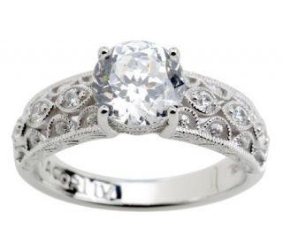 Tacori IV Diamonique Epiphany Bloom Cut Solitaire Ring —