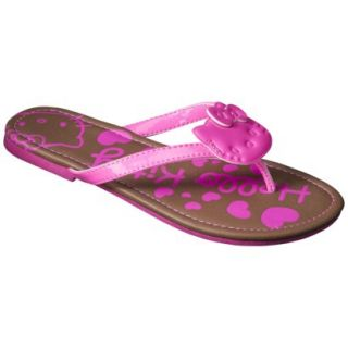 Girls Hello Kitty Flip Flop Sandals   Neon Pink