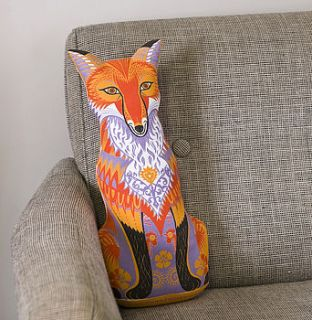 felix the fox tea towel or cut and sew kit by sarah young