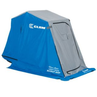 Clam Scout EXP 1 Man Ice Fishing Shelter w/ Thermal Top and Big Mouth 757944