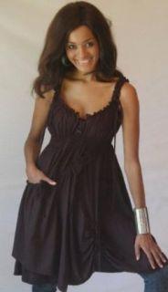 Lotustraders Dress Mini Cami Pocket Baby Doll Asym OS L 2X Black Y288A World Apparel Clothing