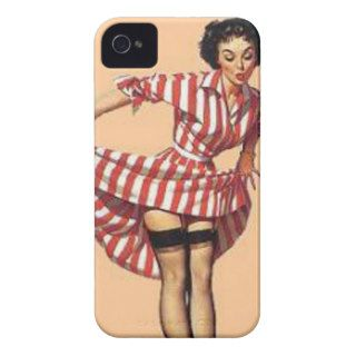Vintage Candy Striper Pin Up Girl MousePad Case Mate iPhone 4 Cases