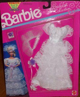 Barbie Bridal Collection Lace Ruffle Wedding Dress: Toys & Games
