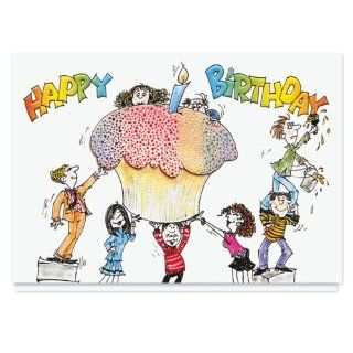 Cupcake Surprise Birthday Card   25 Premium Birthday Cards with Foiled lined Envelopes: Health & Personal Care