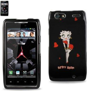 Reiko RK2DPC MOTXT912 B309 Premium Durable Betty Boop Protective Cover for Motorola Droid Razr XT912   1 Pack   Retail Packaging   Black: Cell Phones & Accessories