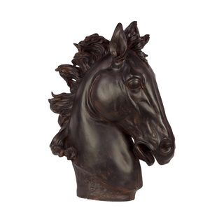 Resin Horse Head Statue Urban Trends Collection Accent Pieces
