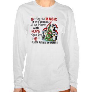 Christmas Penguins Aplastic Anemia Tee Shirts