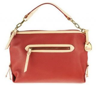 Dooney & Bourke Pebble Leather Small Sac with Key Fob —