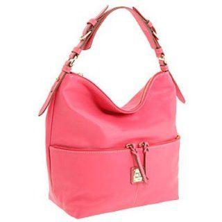 Dooney & Bourke Calf Leather Medium Zipper Pocket Sac Light Pink Clothing