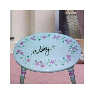 Personalized Pink Floral Oval Step Stool Toys & Games